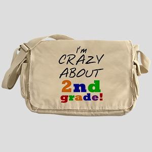 Crazy About 2nd Grade Messenger Bag