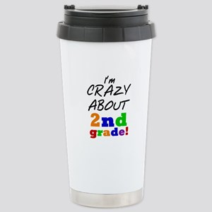 Crazy About 2nd Grade Stainless Steel Travel Mug