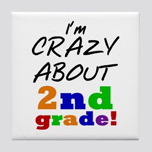 Crazy About 2nd Grade Tile Coaster