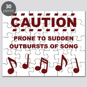 Caution Prone to Sudden Outbursts of Song Puzzle