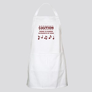 Caution Prone to Sudden Outbursts of Song Apron