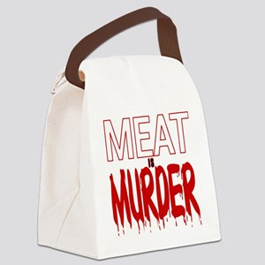 MEAT IS MURDER (BLOODY) Canvas Lunch Bag