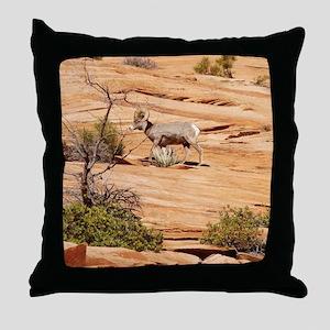 Roaming Big Horn Sheep Throw Pillow