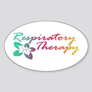 Respiratory Therapy Oval Sticker