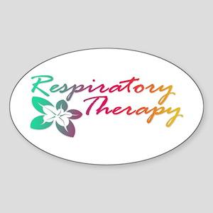 Respiratory Therapy Oval Sticker
