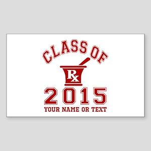 Class Of 2015 Pharmacy Sticker (Rectangle)