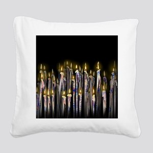 Candles Square Canvas Pillow