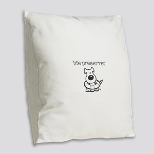 Life Preserver Burlap Throw Pillow
