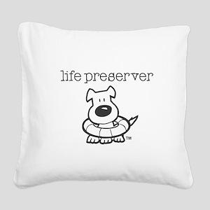 Life Preserver Square Canvas Pillow