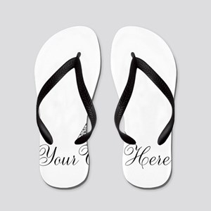 Personalizable Eiffel Tower Flip Flops