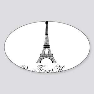Personalizable Eiffel Tower Sticker
