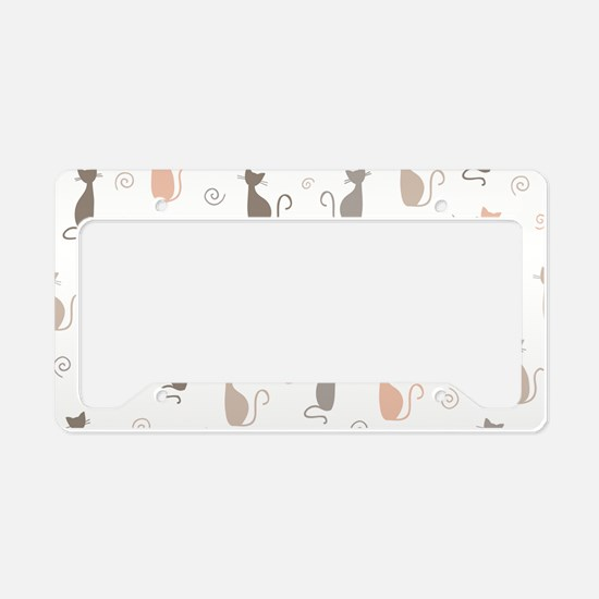 Stylish Cats License Plate Holder