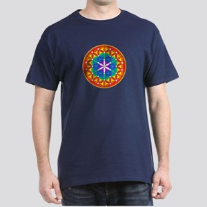 Flower of Life Chakra Sparkle Dark T-Shirt