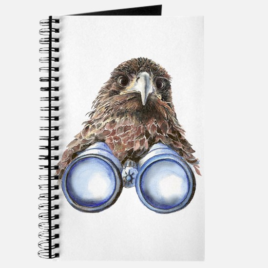 Fun Hawk Bird with Binoculars Journal
