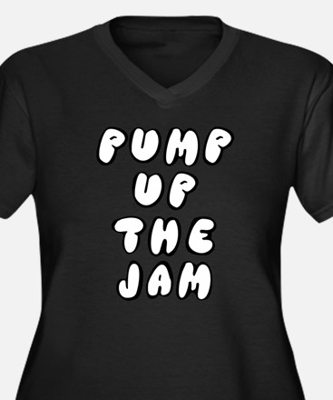 Cute The jam Women's Plus Size V-Neck Dark T-Shirt