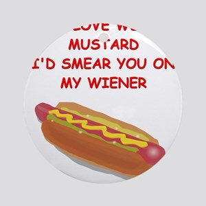 hot dogs Ornament (Round)