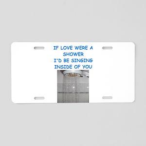 SHOWER Aluminum License Plate