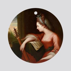 Lady with a Lute Round Ornament