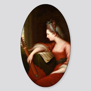 Lady with a Lute Sticker (Oval)