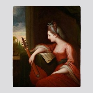 Lady with a Lute Throw Blanket