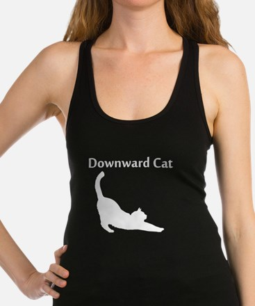 Downward Cat Racerback Tank Top