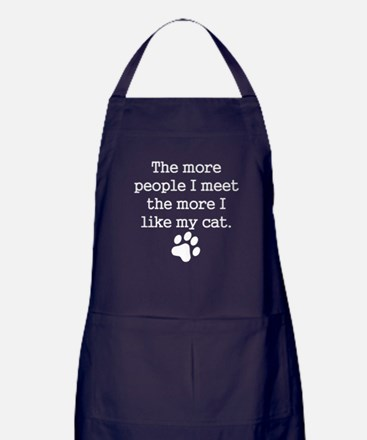 The More I Like My Cat Apron (dark)