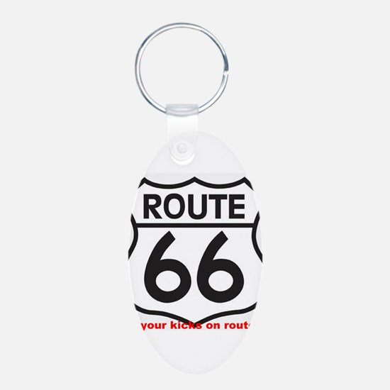 get your kicks on route 66 Keychains