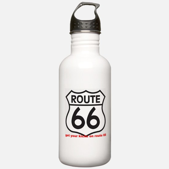 get your kicks on route 66 Water Bottle