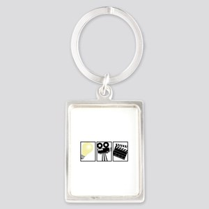 Lights Camera Action Keychains