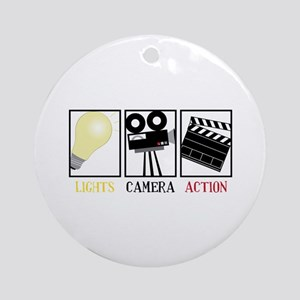 Lights Camera Action Ornament (Round)