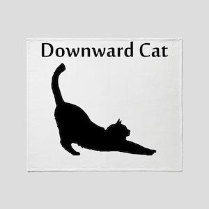 Downward Cat Throw Blanket