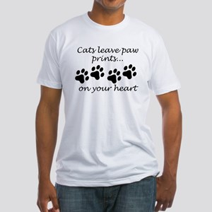 Cats Leave Paw Prints On Your Heart T-Shirt
