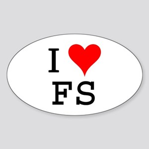 I Love FS Oval Sticker
