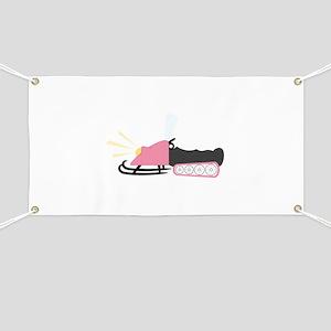 Girly Snowmobile Banner