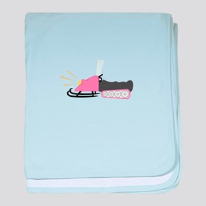 Girly Snowmobile baby blanket