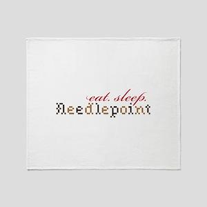 Eat,Sleep,Needlepoint Throw Blanket