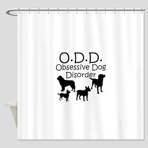 Obsessive Dog Disorder Shower Curtain