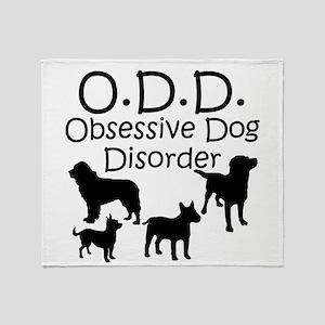 Obsessive Dog Disorder Throw Blanket