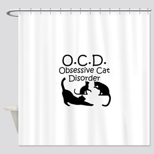 Obsessive Cat Disorder Shower Curtain