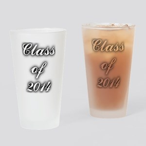 Class of 2014 - with black shadow Drinking Glass