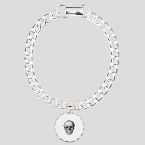 HUMAN SKULL ANATOMY Charm Bracelet, One Charm