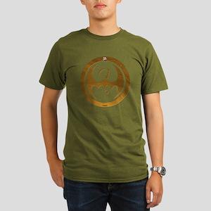 Marvel Ironfist Logo Organic Men's T-Shirt (dark)