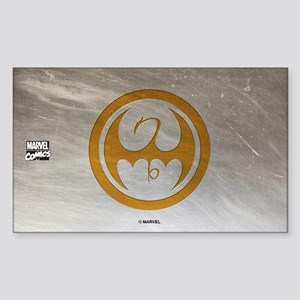 Marvel Ironfist Logo Sticker (Rectangle)