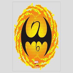 Marvel Iron Fist Logo Wall Art