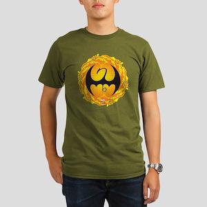 Marvel Iron Fist Logo Organic Men's T-Shirt (dark)