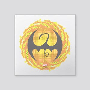 "Marvel Iron Fist Logo Square Sticker 3"" x 3"""