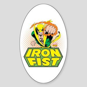 Iron Fist Sticker (Oval)