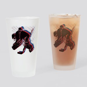 Hockey Goaler Drinking Glass