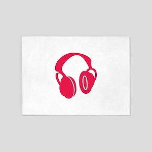 Headphones 5'x7'Area Rug