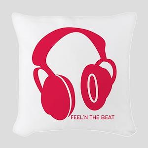 Feeln The Beat Woven Throw Pillow